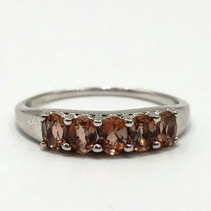 Sterling Silver 1.0 tcw Morganite Ring Band